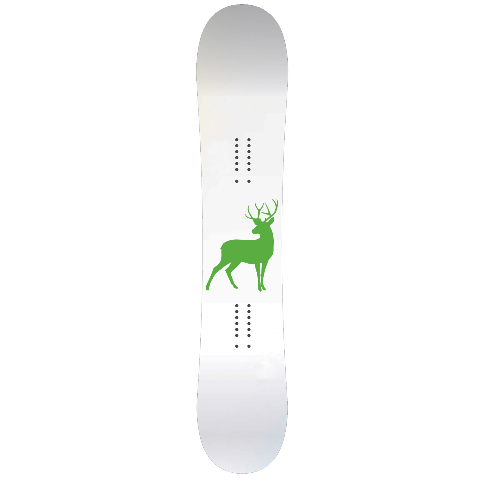 Deer Body Silhouette Snowboard Sticker All Weather Vinyl Decal